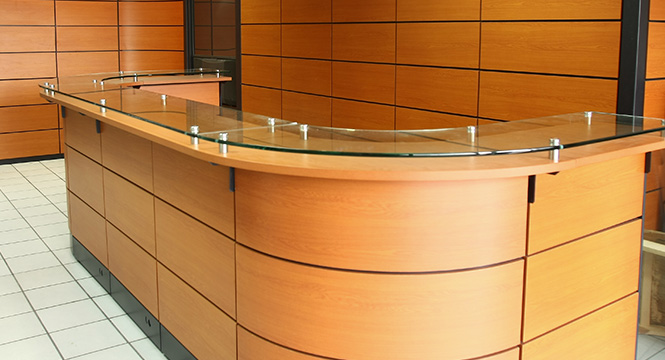 Jafher somos expertos en muebles para oficinas for Muebles de recepcion de oficina